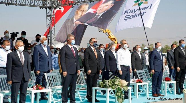 Kayseri Şeker Fabrikası'nın 66. pancar alım kampanyası töreni