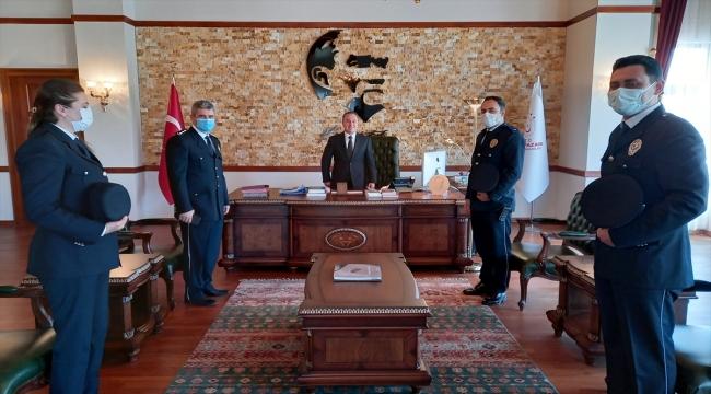 Beypazarı Emniyet Müdürü Hasan Ünlü'den Kaymakam Bozdemir'e ziyaret
