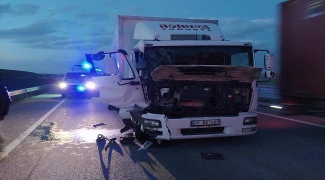 Kırıkkale'de kamyon ve kamyonet çarpıştı: 1 ölü, 4 yaralı