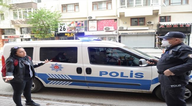 Eskişehir'de maskesiz markete giren bir kadına para cezası kesildi