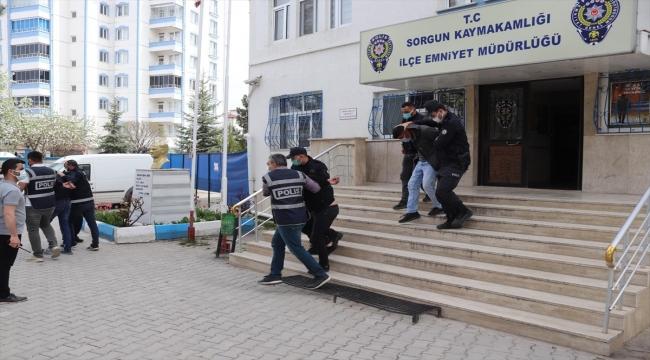 Yozgat'ta inşaat malzemesi çaldığı iddia edilen 5 şüpheli yakalandı