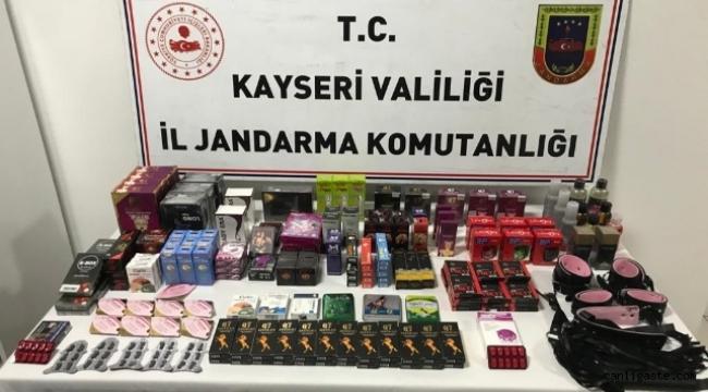 Kayseri'de cinsel uyarıcı operasyonu